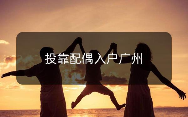广州市夫妻投靠入户指南_广州米兔入户咨询